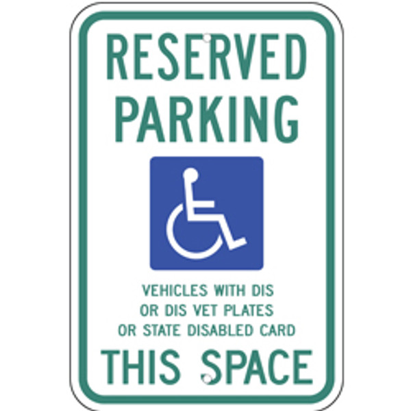 Wisconsin Handicap Reserved Parking Sign
