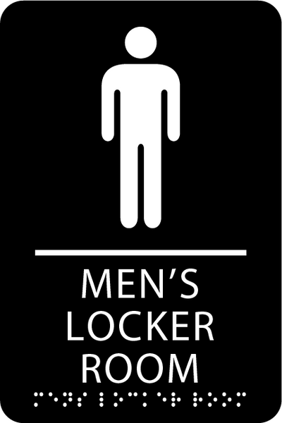 "ADA Men's Locker Room Sign - 6"" x 9"""