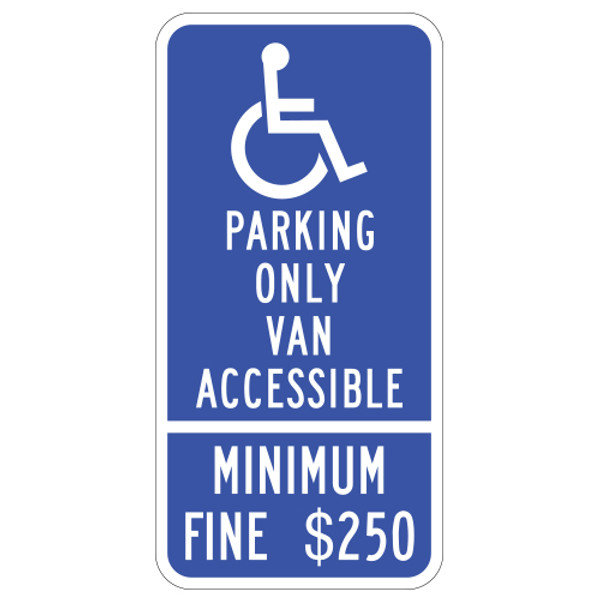 California Van Accessible Handicap Parking Sign