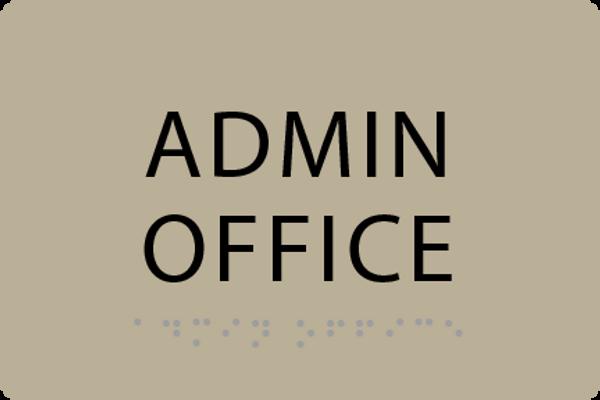 ADA Admin Office Sign