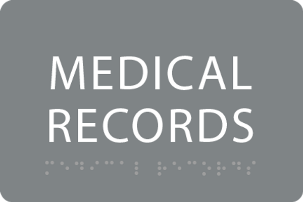 ADA Medical Records Sign