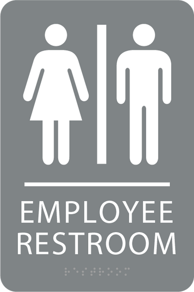 ADA Employee Restroom Sign