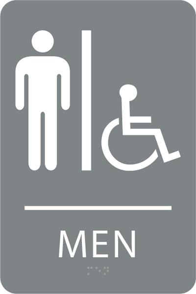 ADA Men Accessible Restroom Sign