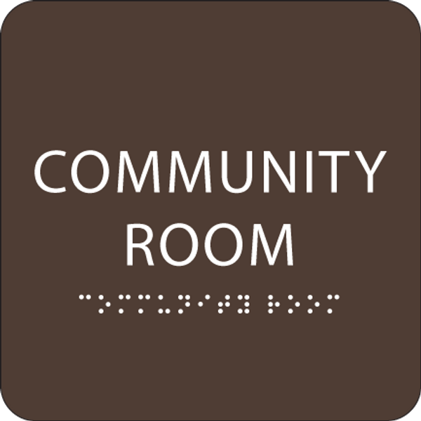 Brown Community Room ADA Sign