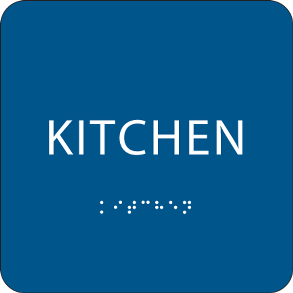 Blue ADA Kitchen Sign