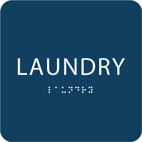Blue Laundry ADA Sign