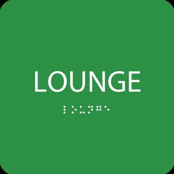 Green Lounge ADA Sign