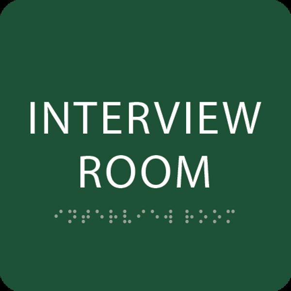 Green Interview Room ADA Sign