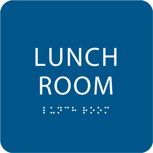 Blue Lunch Room ADA Sign