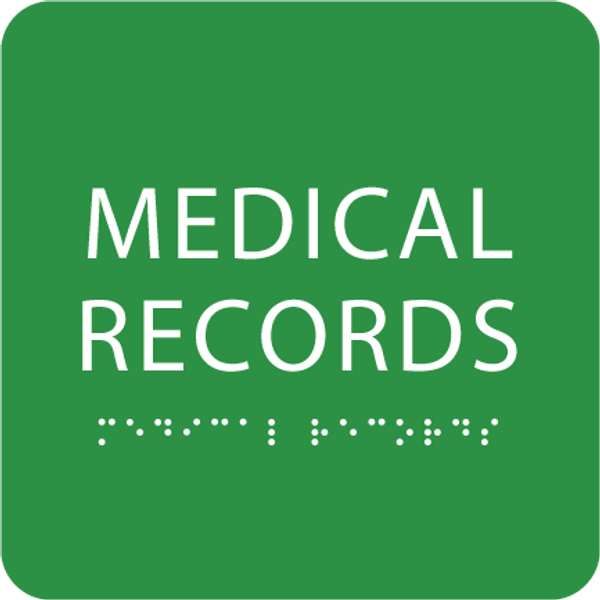 Green Medical Records ADA Sign