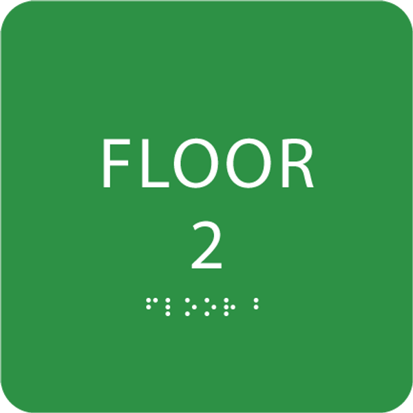 Green Floor 2 Identification Sign