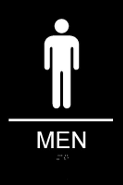 ADA Men's Restroom Sign