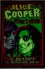 Alice Cooper print viewed in dark environment
