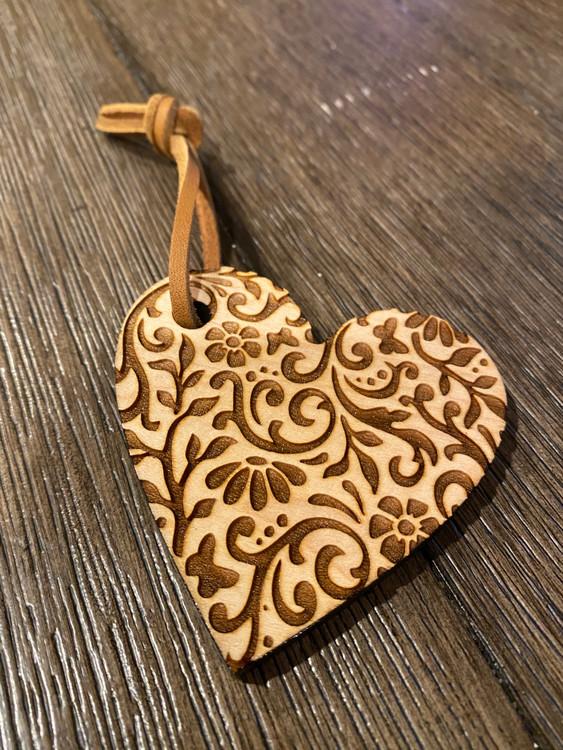 Fancy Heart Shaped Ornament
