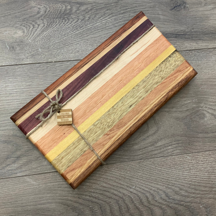 Colorful Striped Cutting Board (Design 5)