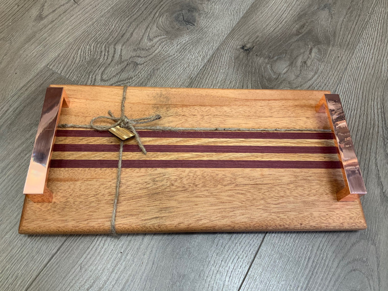 Purpleheart/Oak Thin Striped Serving Tray