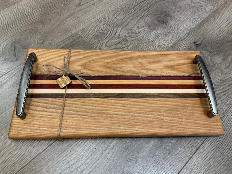 Thin Striped Middle Serving Tray - Design 1