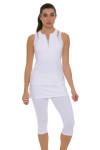 Sofibella Women's Victory White Tennis Skirt Leggings SFB-1526-white Image 6