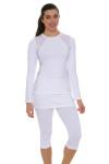 Sofibella Women's Victory White Tennis Skirt Leggings SFB-1526-white Image 4
