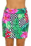 Allie Burke Floral Geo Print Pull On Golf Skort