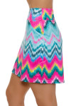 Allie Burke Chevron Multi Print Pull On Golf Skort