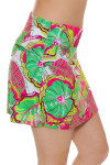 Allie Burke Preppy Floral Print Pull On Golf Skort