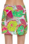 Allie Burke Preppy Floral Print Pull On Golf Skort