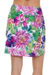 Allie Burke Exotic Floral Print Pull On Golf Skort