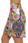 Allie Burke Carnival Print Pull On Golf Skort