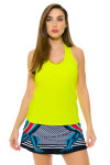 Yellow V-Neck Racerback Tank