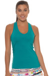 Lucky in Love Teal V-Neck Tennis Tank