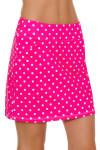 Allie Burke Pink Polka Dot Print Golf Skort