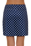 Allie Burke Navy Polka Dot Print Golf Skort
