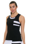 Tonic Active Women's Imperial Black Niroh Tennis Tank TO-2220-118-Black Image 1