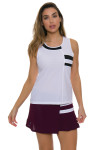 Tonic Active Women's Imperial White Niroh Tennis Tank TO-2220-118-White Image 3