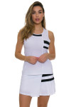 Tonic Active Women's Imperial White Niroh Tennis Tank TO-2220-118-White Image 2