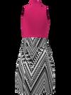 Allie Burke Pink Houndstooth Golf Dress