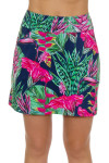 Allie Burke Summer Garden Navy Pull On Golf Skort