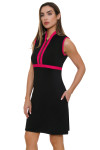 Allie Burke Black With Pink Trim Golf Dress