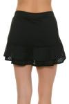 Gemmeo Women's Ruffle Mesh Black Tennis Skirt GEM-Gem101-BLK Image 5