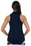 Allie Burke Navy Golf Sleeveless Polo Shirt