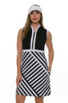 Allie Burke Cross Geo Stripe Golf Dress