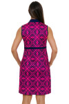Allie Burke Geo Navy Pink Tile Print Golf Dress
