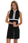 Allie Burke Black With White Trim Golf Dress