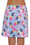 Allie Burke Pineapple Print Pull On Golf Skort