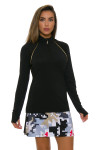 EP Pro NY Women's Gold Standard Piped Mock Golf Long Sleeve Top-5