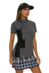 EP Pro NY Women's Gold Standard Placed Print Golf Short Sleeve Polo-5