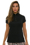 EP Pro NY Women's Gold Standard Contrast Taping Golf Cap Sleeve Polo-1