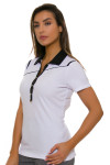 EP Pro NY Women's Gold Standard Angled Piping Golf Short Sleeve Polo-2