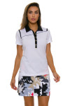 EP Pro NY Women's Gold Standard Angled Piping Golf Short Sleeve Polo-3